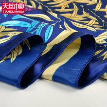 90*90cm Fashion Woman Foulard Silk Square Scarf Exquisite Printed Hijab Fashion Brand Womens Crepe Satin Silk Shawl Bandana