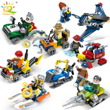 Police Firefighter car Helicopter Building Blocks Compatible Legoed City Figures Bricks Assembled Educational toys for Children
