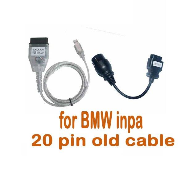 По DHL или FedEx 20 шт для B M W INPA K+ кабель DCAN с 20pin кабелем
