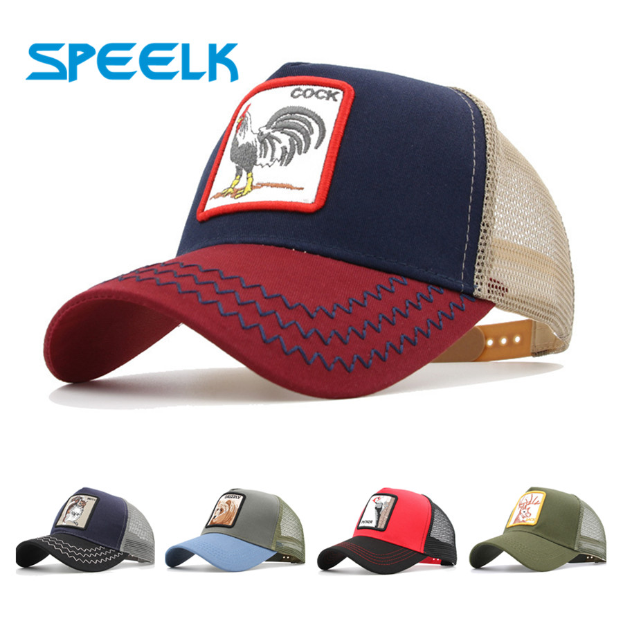 Speelk Casual Mesh   Caps   Women Lovely Animal   Baseball     Cap   Unisex Snapback Hats Men Summer Hip-pop Visors Hat Casquette Wholesale