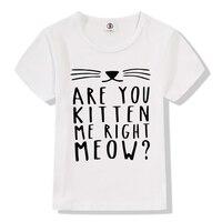 2017 Summer Funny Kitten Cat Purrvana Print Modal T Shirt Kids Rock Band Nirvana T Shirts