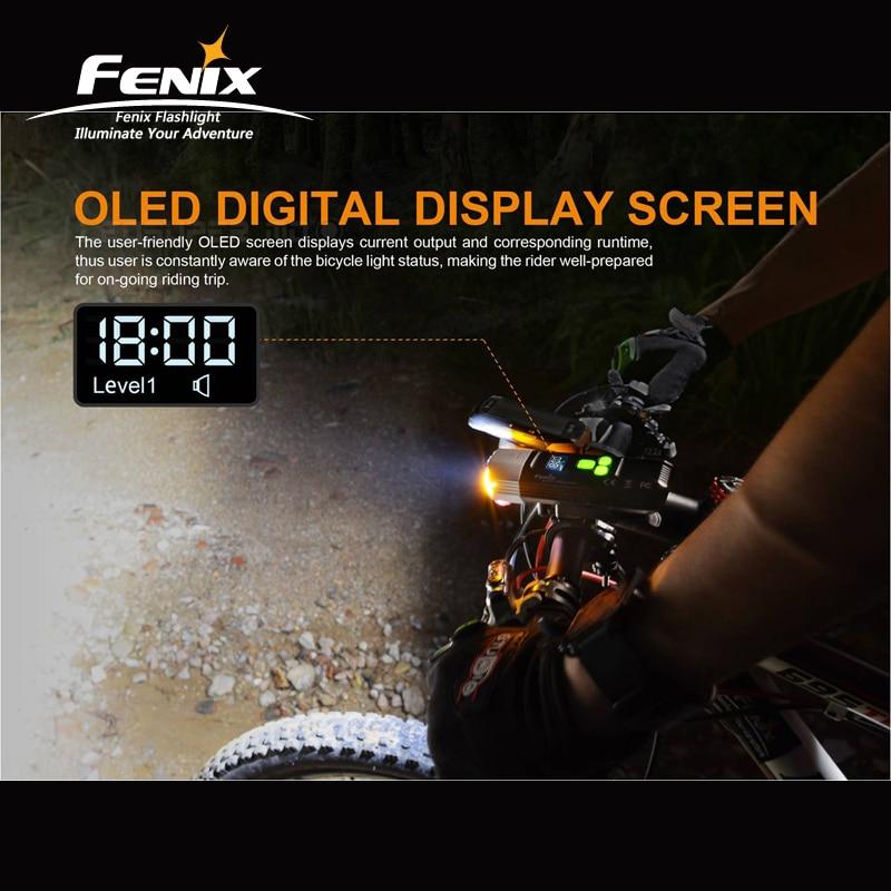 1800 Lumen Fenix BC35R Cree XHP50 Neutral White LED a Tutto tondo USB Ricaricabile Della Luce Della Bicicletta con schermo OLED - 4