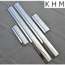 Tampas de cromo de Aço Inoxidável do Peitoril Da Porta Threshold Placa Scuff Para Ford Focus 2 mk2 2005-2011