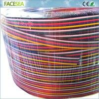 100 м/Roll 6pin 22AWG светодиодный разъем расширения жильный кабель консервированные Медь Электрический продлить шнур
