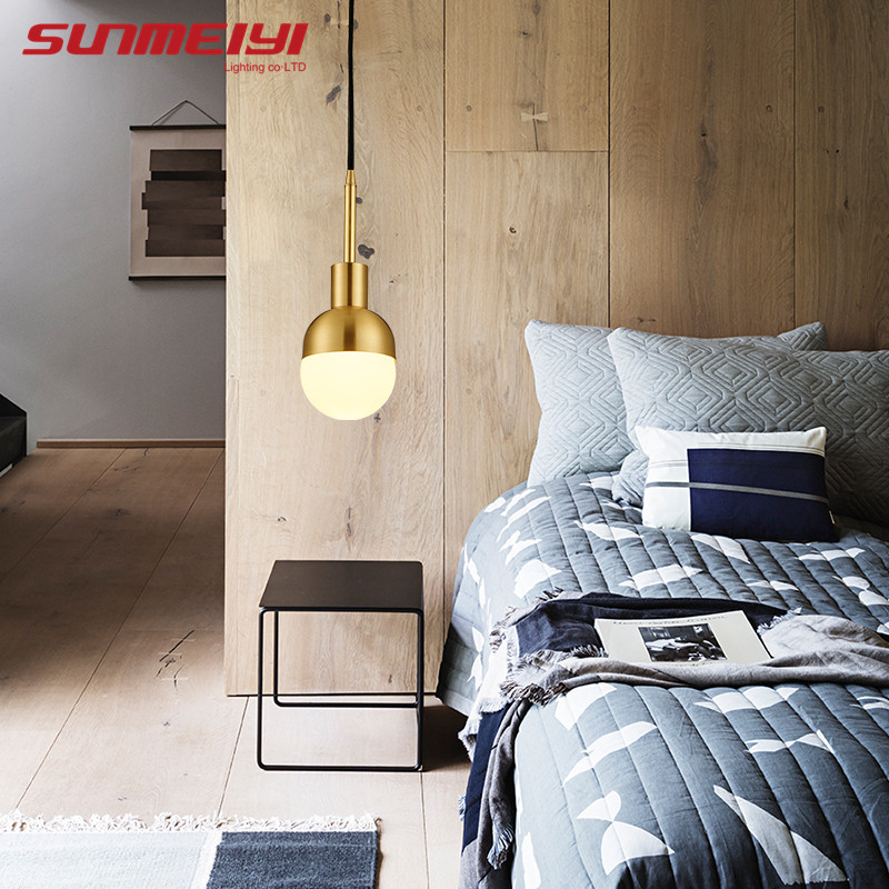 Modern Led Pendant Light Glass Golden Led Hanging Lamp Fixtures Indoor Lighting Lustre luminaria Suspend Lamp iwhd led pendant light modern creative glass bedroom hanging lamp dining room suspension luminaire home lighting fixtures lustre