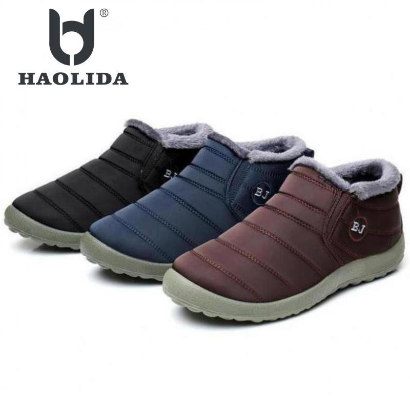 Waterproof Women Winter Shoes Couple Unisex Snow Boots Warm Fur Inside Antiskid Bottom Keep Warm Mother Casual Boots 35-45 Size size 35 43 waterproof women winter shoes snow boots warm fur inside antiskid bottom keep warm mother casual boots bare shoes 40a