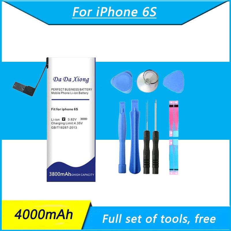 Original Da Da Xiong 4000mAh baterias de Telefone Celular Bateria de alta capacidade Para o iphone 6S