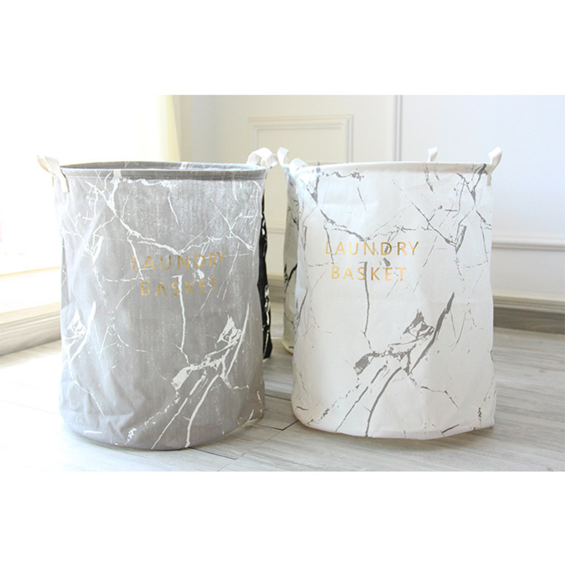 New toy Storage hanging Basket Linen fabric Waterproof Buckets Portable Laundry Buckets Bags Foldable Bathroom Dirty