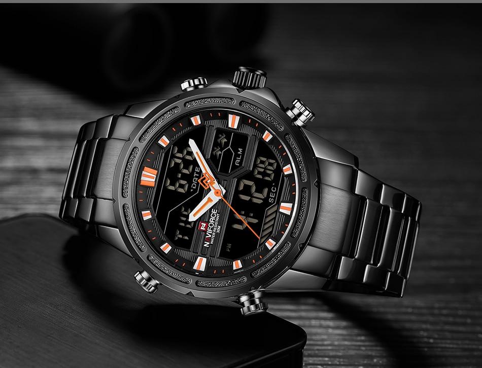 Top Luxury Brand NAVIFORCE Men Watches Military Waterproof LED Digital Sport Men's Clock Male Wrist Watch relogio masculino 13