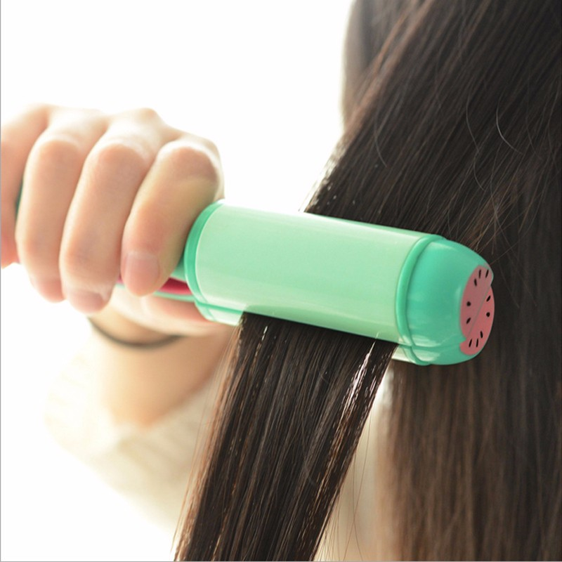 Beautiful Online Store 4 colors Hair Straightener  hair curler two in one Flat Iron Straightening Irons mini Electric Splint  withStyling Tools