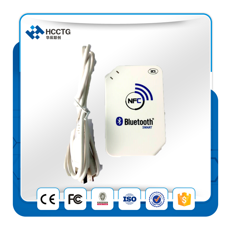 FREE SHIPPING 13.56 mhz ISO14443 wireless Android USB Bluetooth NFC+Tag+FeliCa card reader/ writer +2pcscards + Free SDK ACR1255