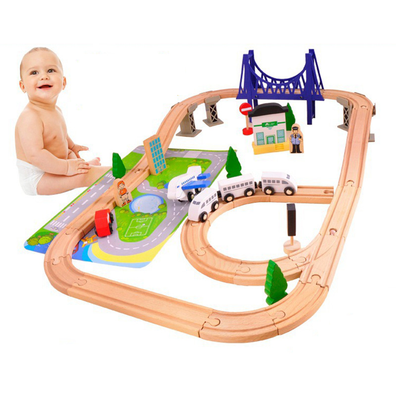 Train Sets Wooden Toys Airport 0 Types Available Wooden Train Track Pack Train Toys Early Education train brisbane