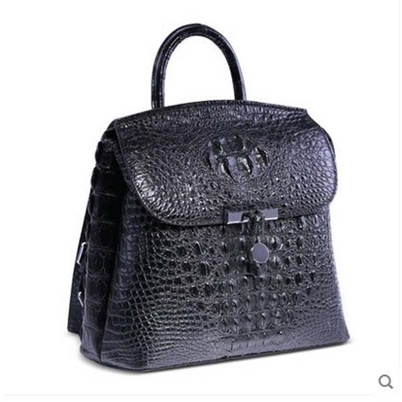 heimanba crocodile  leather women Backpack  2017 new Thai crocodile leather women bag fashion bag