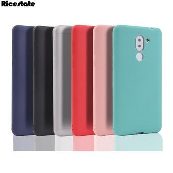 Huawei Honor 6X Mate 9 lite GR5 2017 silikon tpu miękka tylna pokrywa dla Huawei Honor 6X matowe stałe kolory przypadku tanie i dobre opinie Ricestate CN (pochodzenie) Soild Colors Zwykły