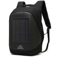 15.6' Laptop Solar Backpack Large iPad Bag USB Charging Business Backpacks Traveling Daypack anti theft backpack Male Mochila