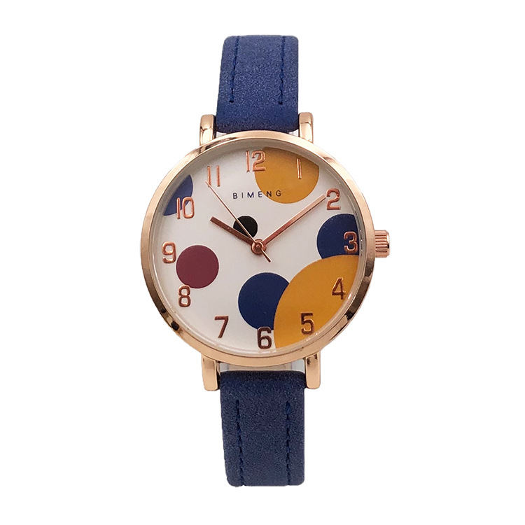 New creative children's simple color dial lovely schoolgirl waterproof electronic quartz watch(China)