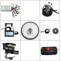 RisunMotor LCD Controller Brake Lever Throttle PAS Ebike Front / Rear Wheel Conversion Kit 36V 48V 350W Brushless Gearless Motor