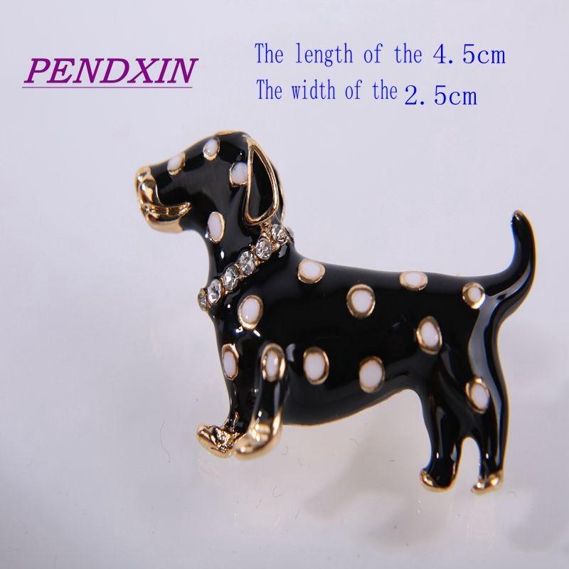 mode baru titik tunggal lucu anjing hadiah fashion klasik enamel - Perhiasan fashion - Foto 2