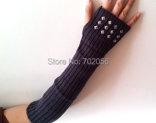 Knitted Fingerless Gloves Ballet Dance Glove  Arm Warmers Mitten Fashion Mixed Style Color 24 Pairs/lot#3812