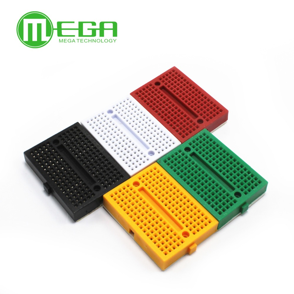 20pcs/lot SYB-170 Mini Solderless Prototype Experiment Test Breadboard 170 Tie-points 35*47*8.5mm