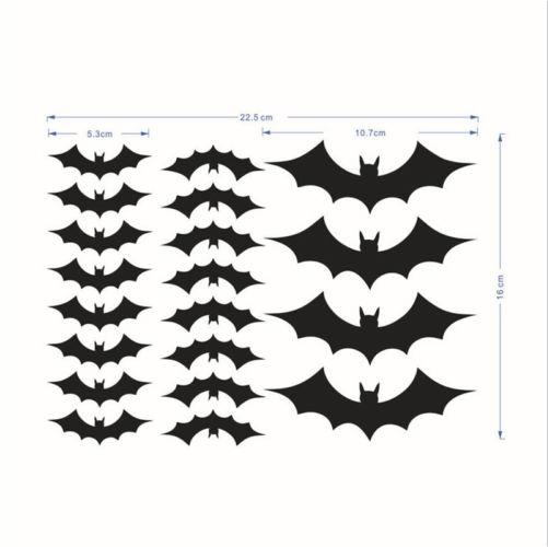 20pcs Home Decoration Waterproof Removable Diy Black Horrible Pvc Bat Wall Decals Stickers In From Garden On Aliexpress