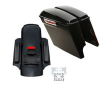 Motorcycle 5 Stretched Extended Saddlebags and CVO Rear Fender For Harley Touring Electra Street Glide Road King FLT FLHT 14 18