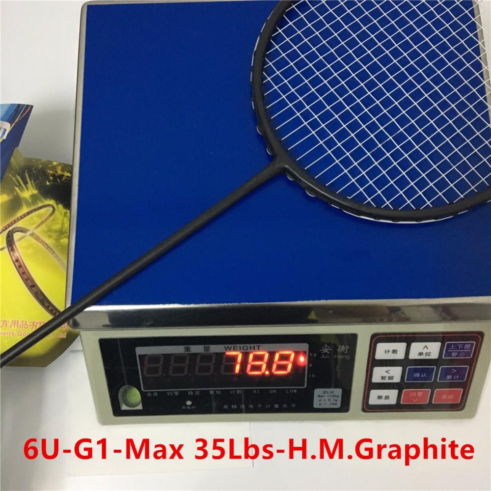6U 35Lbs professional badminton rackets G1 carbono badminton rackets racquets