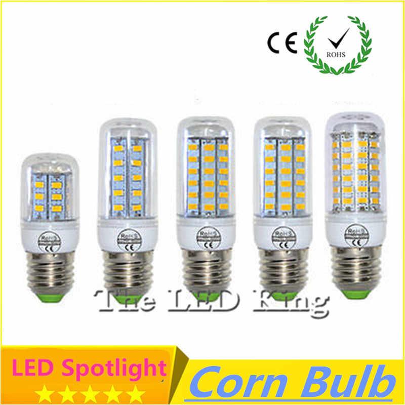 ランパーダ Led ランプ 220V 110V E27 E14 GU10 G9 Led ライト 5730 SMD Bombillas LED 電球キャンドルルスアンプルクリスマススポットライト Lamparas