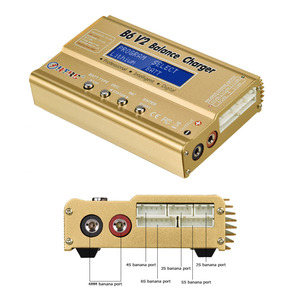 Image 4 - HTRC B6 V2 80W סוללה איזון מטען 15V 6A AC מתאם + 8 ב 1 כבלים + LiPo בטוח סוללה משמר פיצוץ הוכחת תיק פריקה