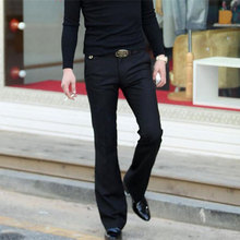 Pants Male Free-Trousers Black Korean More-Size Summer British 37 Micro-Bell Spring Slim
