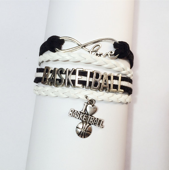 Charm Basketball Bracelet New Designer Cheer Bracelets Fashion Love Cheerleading