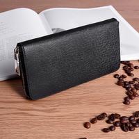 High Quality Long Genuine Leather Wallet Men Designer Brand Coin Purse Mens Wallet Male Clutch Big