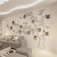 Adesivos de parede árvore foto quadro adesivo diy espelho decalque da parede decoração para casa sala estar quarto cartaz tv fundo decoração da parede|Adesivos de parede| |  -