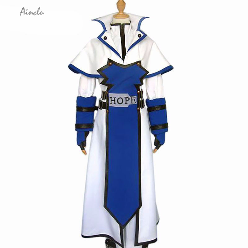 Ainclu Customize for adults and kids free shipping New White Blue Guilty Gear Ky Kiske Cosplay Costume