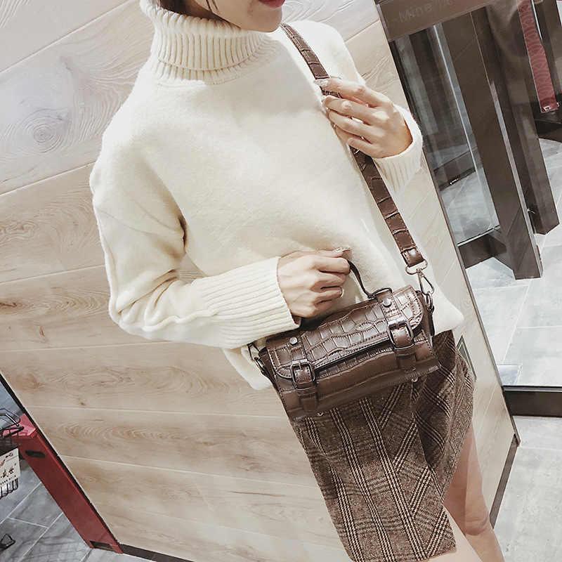 Аллигатор модная винтажная известная дизайнерская сумка сумки 2019 новая женская сумка из искусственной кожи женская сумка через плечо сумка-мессенджер