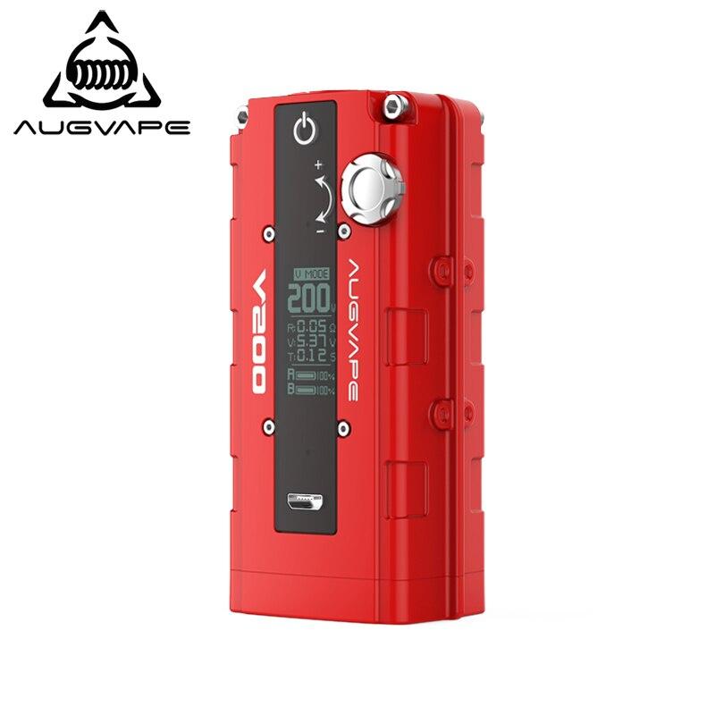 Augvape V200 boîte mod vaporisateur Bypass Automatique V Support du mode double 18650 Batterie de Zinc alliage mod cigarette électronique RDA RTA RDTA