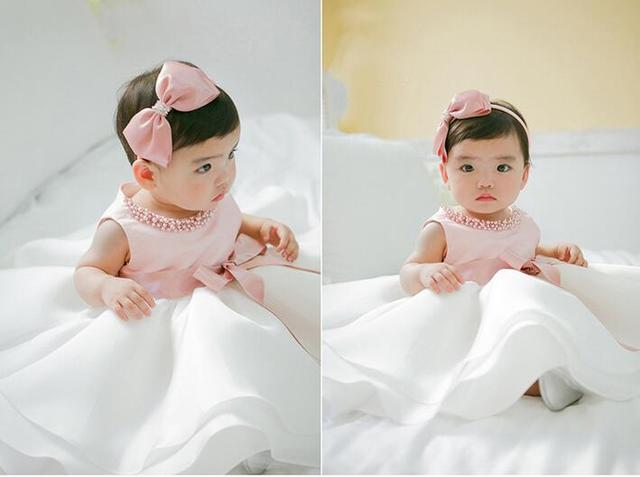 1b95920a9 New Infant Baby Girl Wedding Dress Baptism Christening Gown Pageant ...