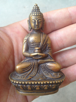 Wang671115498++++Antique Hands Tibetan Buddha Old Bodhisattva Bronze Buddha Statue Decoration NX
