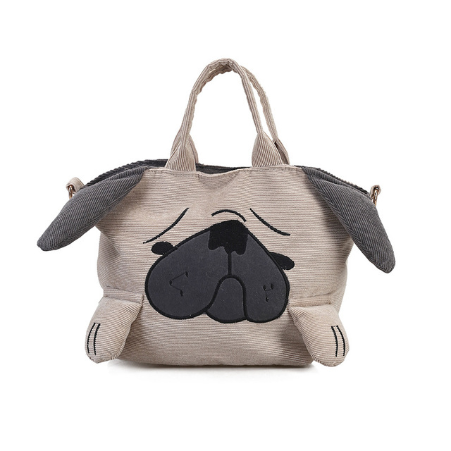 4ac2807082e Personalized Women Handbag For Girls And Boys Puppy Shaped Funny Shoulder  Bag New Kids Messenger Bags