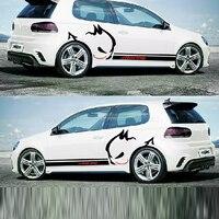 Full Car Body Garland Decorative Body Decals Evil Rabbit Car Stickers For VW Chevrolet Hyundai BMW