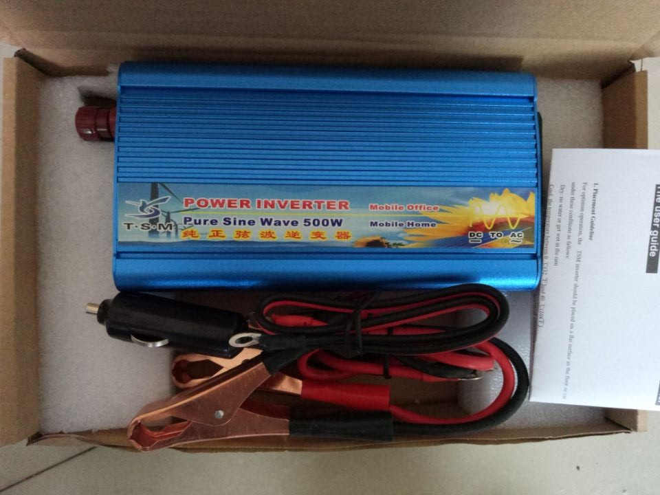 цена на free shipping 500W DC input 12V/24V to AC output 110V/220V 50HZ/60HZ Pure sine wave inverter peak power 1000w inverter