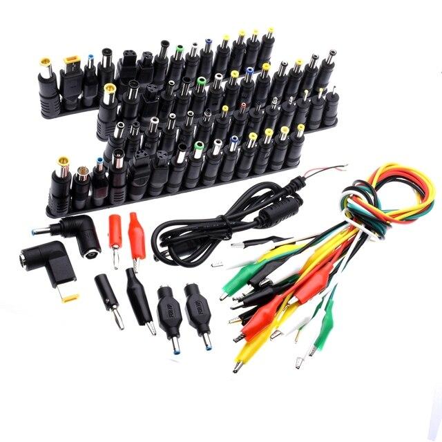 Connecteur dalimentation universel pour ordinateur portable 74 pièces, connecteur de prise de courant alternatif et cc, tête de chargeur, adaptateur dalimentation pour ordinateur portable