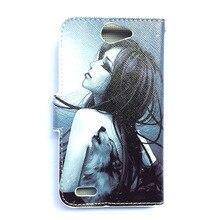 Nouveau dessin animé peinture pu cuir flip portefeuille case pour philips s309 téléphone couverture case numéro de suivi