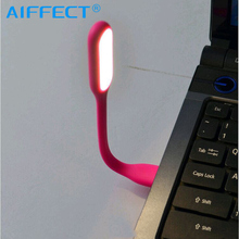 AIFFECT USB Led Light Mini Flexible Camping Table Lamp Gadgets usb Reading lamp Power bank laptop computer Notebook