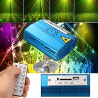 Bluetooth LED Stage Light R G Mini Laser Stage Lighting Effect USB SD Projector Disco X