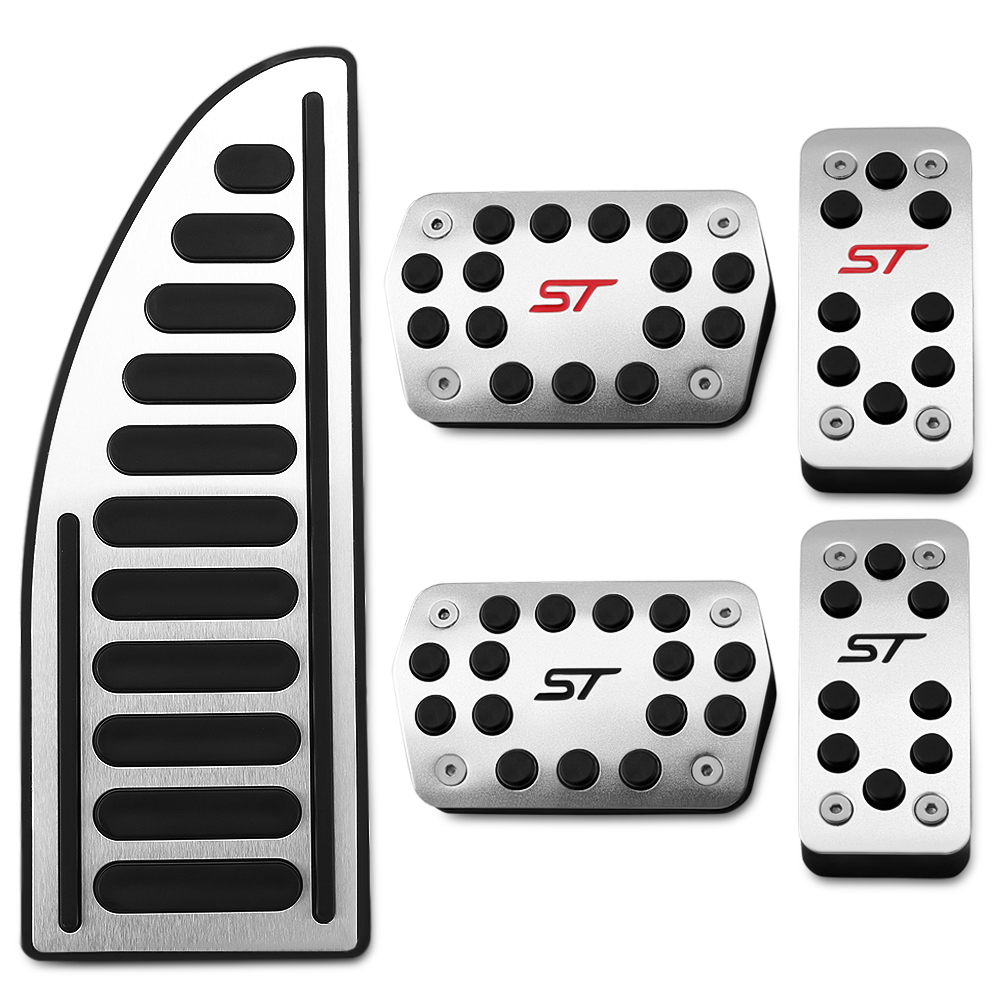 Stainless Car Pedals Covers for Ford Focus 2 3 4 MK2 MK3 MK4 Kuga Escape RS ST 2005 2017 Clutch Gas Brake Pedal Set Pads-in Pedals from Automobiles & Motorcycles