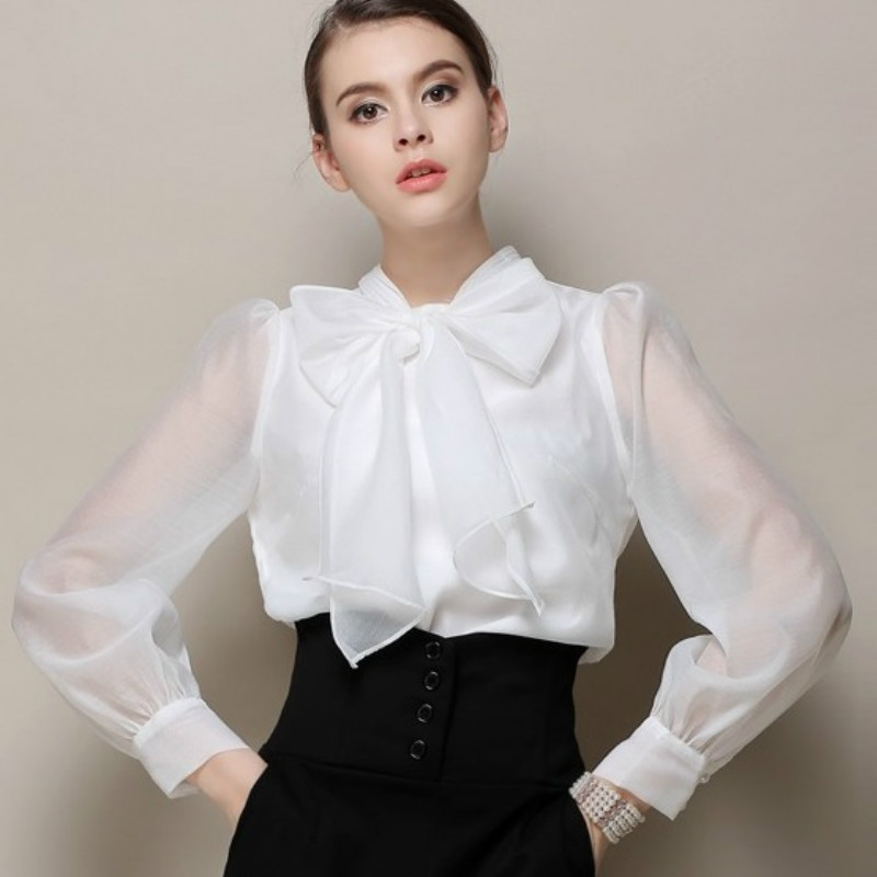 White Bow Blouse | Fashion Ql