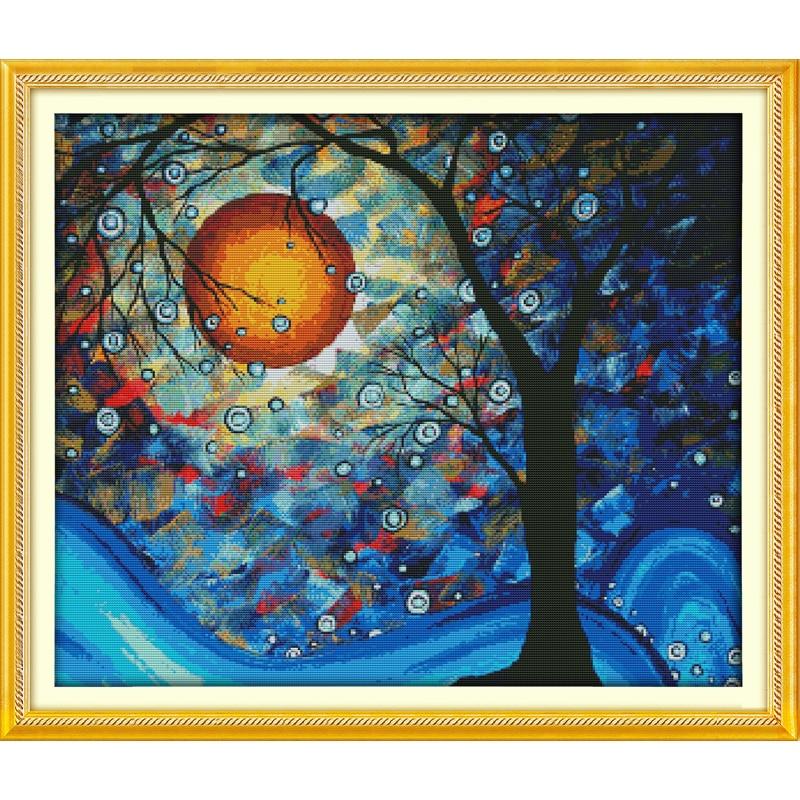 Everlasting Любовь Дерево мечты экологический хлопок Китайский вышивки крестом наборы Счетный штампованные 11 CT 14 CT Новая акция продаж