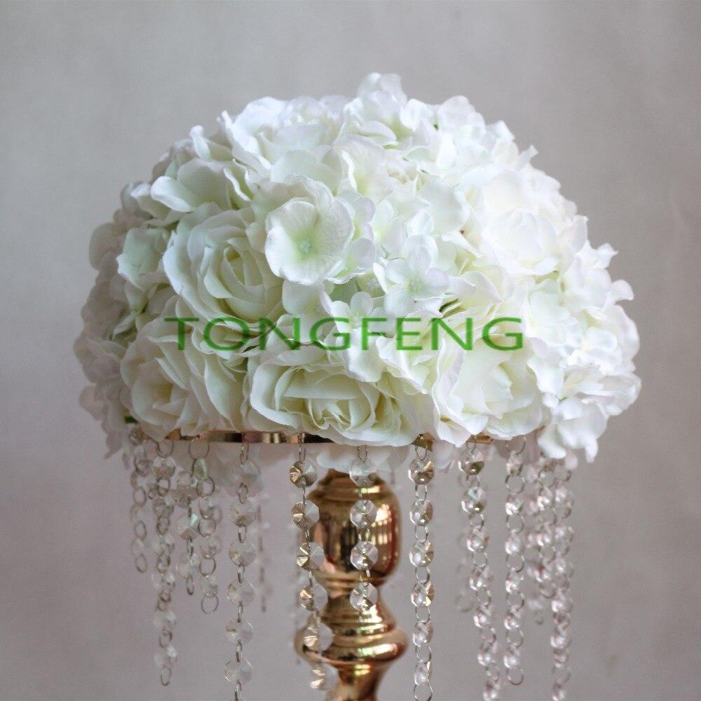 Ivory Flower Ball: Wedding Road Lead Artificial Rose Hydrangea Flower Ball