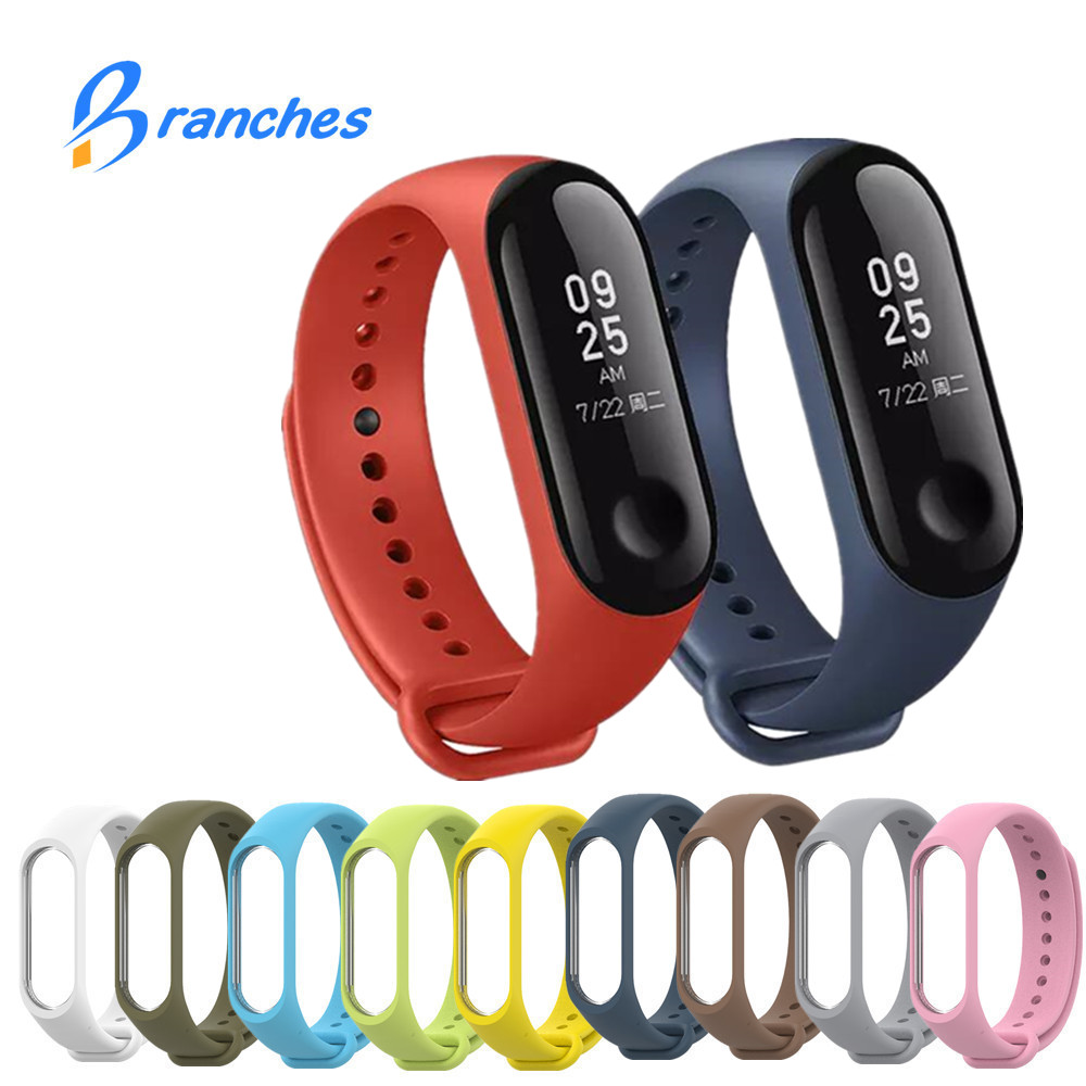 Mi Band 3 Strap Silicone Colorful Wristband Replacement Smart Band Accessories For Xiaomi Mi Band 3 Bracelet Strap Miband 3 lemfo smart accessories for xiaomi mi band 3 charger usb charging cable replacement miband 3 smart bracelet mini portable